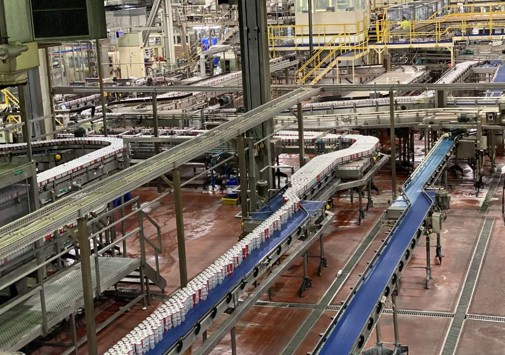 Can Conveyor System In Can Factory