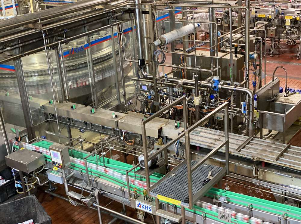 Can Filling Factory with Can Conveyor Systems