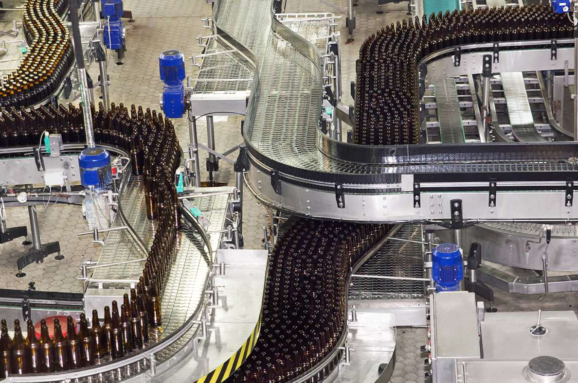 Bottle Conveyor System In Factory