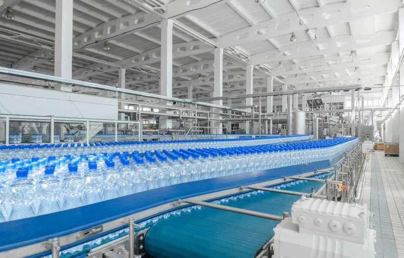Bottle Line On Conveyor System