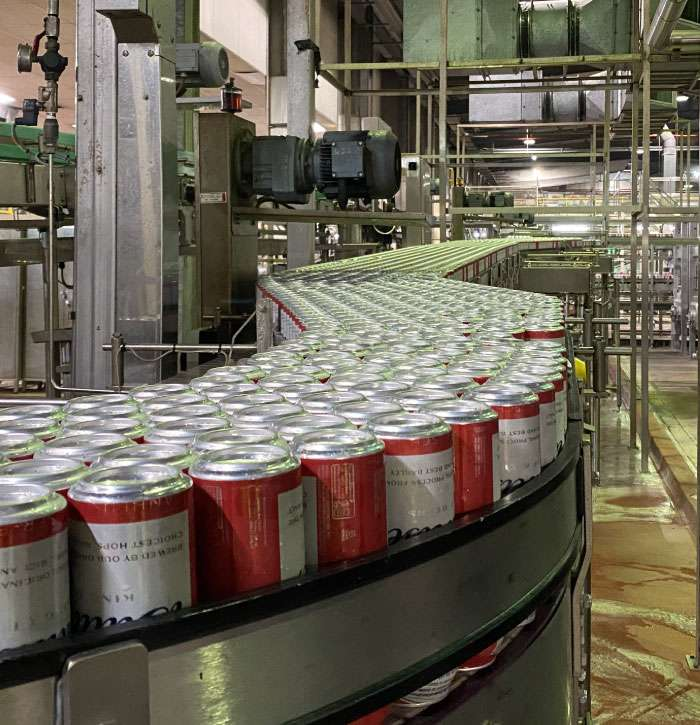 Can Conveyor Line During Production